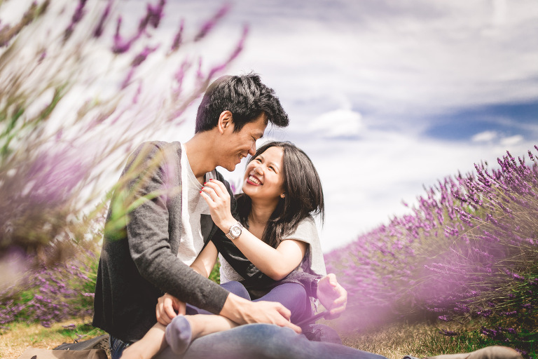 ENGAGEMENT SHOOT IN LONDON LAVENDER FIELD