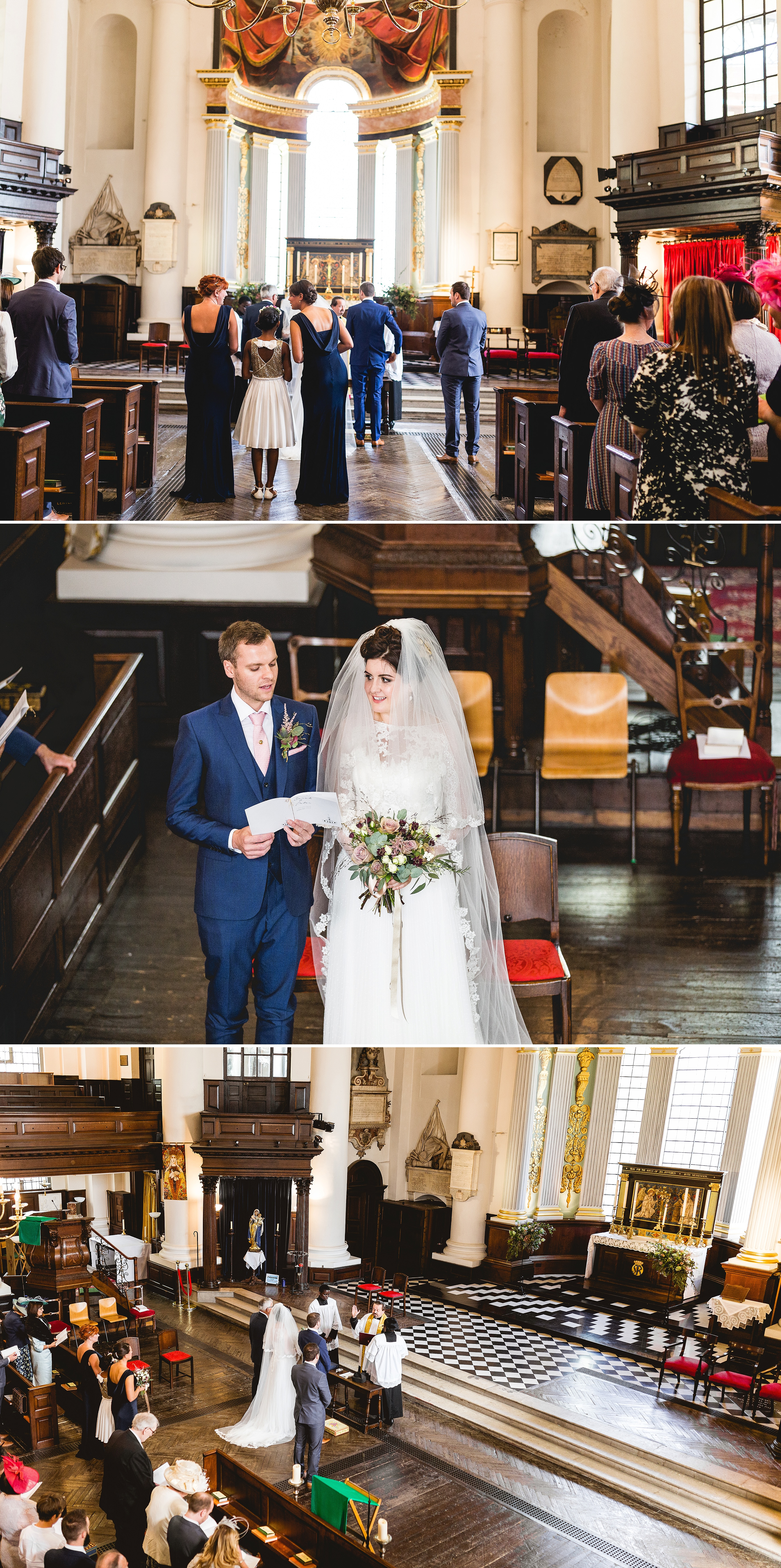 St Paul's church in Deptford wedding ceremony photos