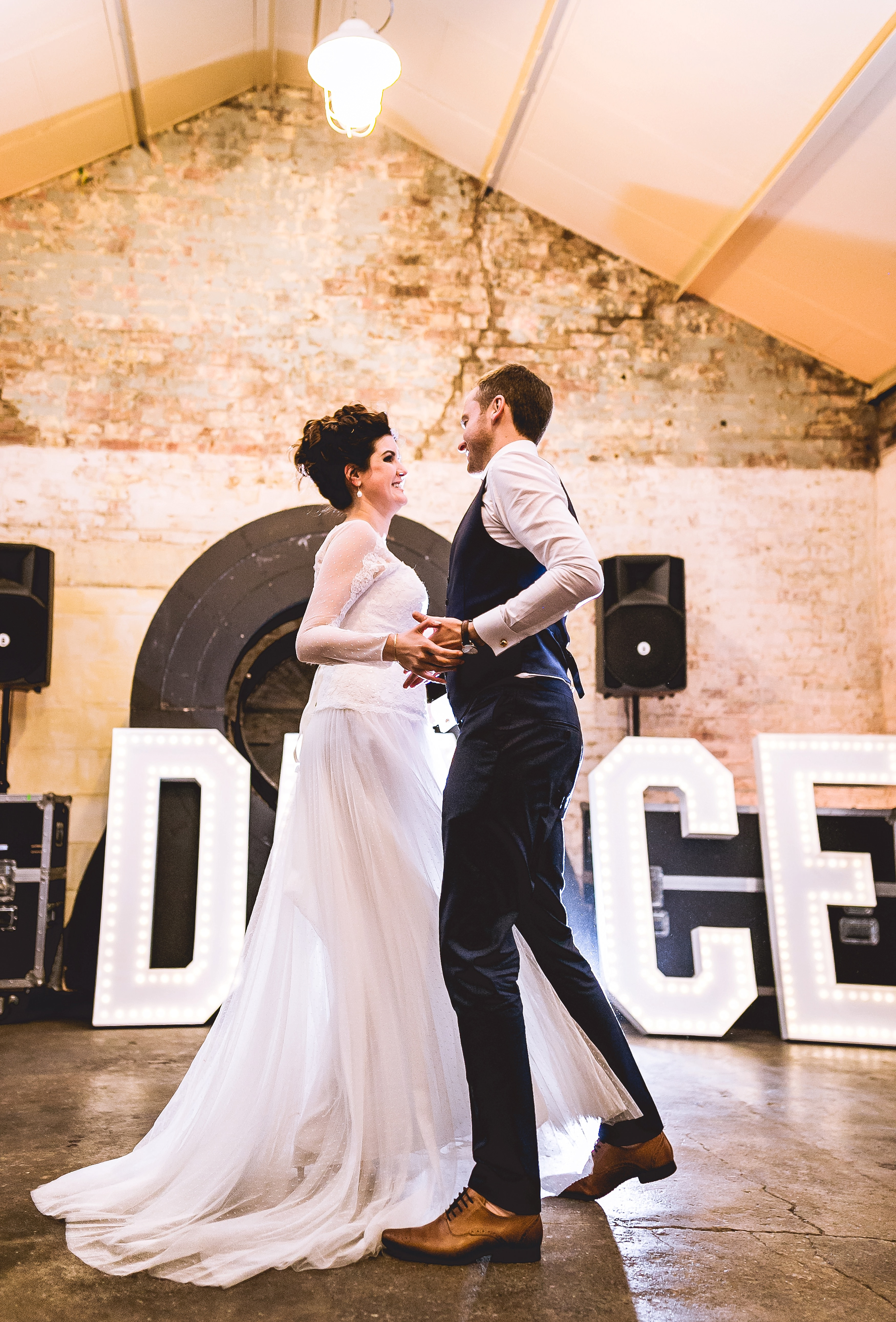 new oletters gatsby quirky wedding in london warehouse one firendly place greenwich