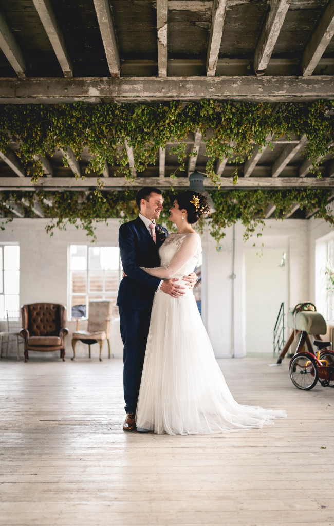 warehouse wedding photos at one friendly place