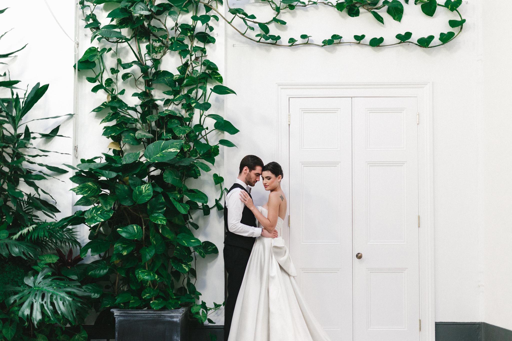 york house tickenham wedding decorations and dinner table glass room checkered floor wedding