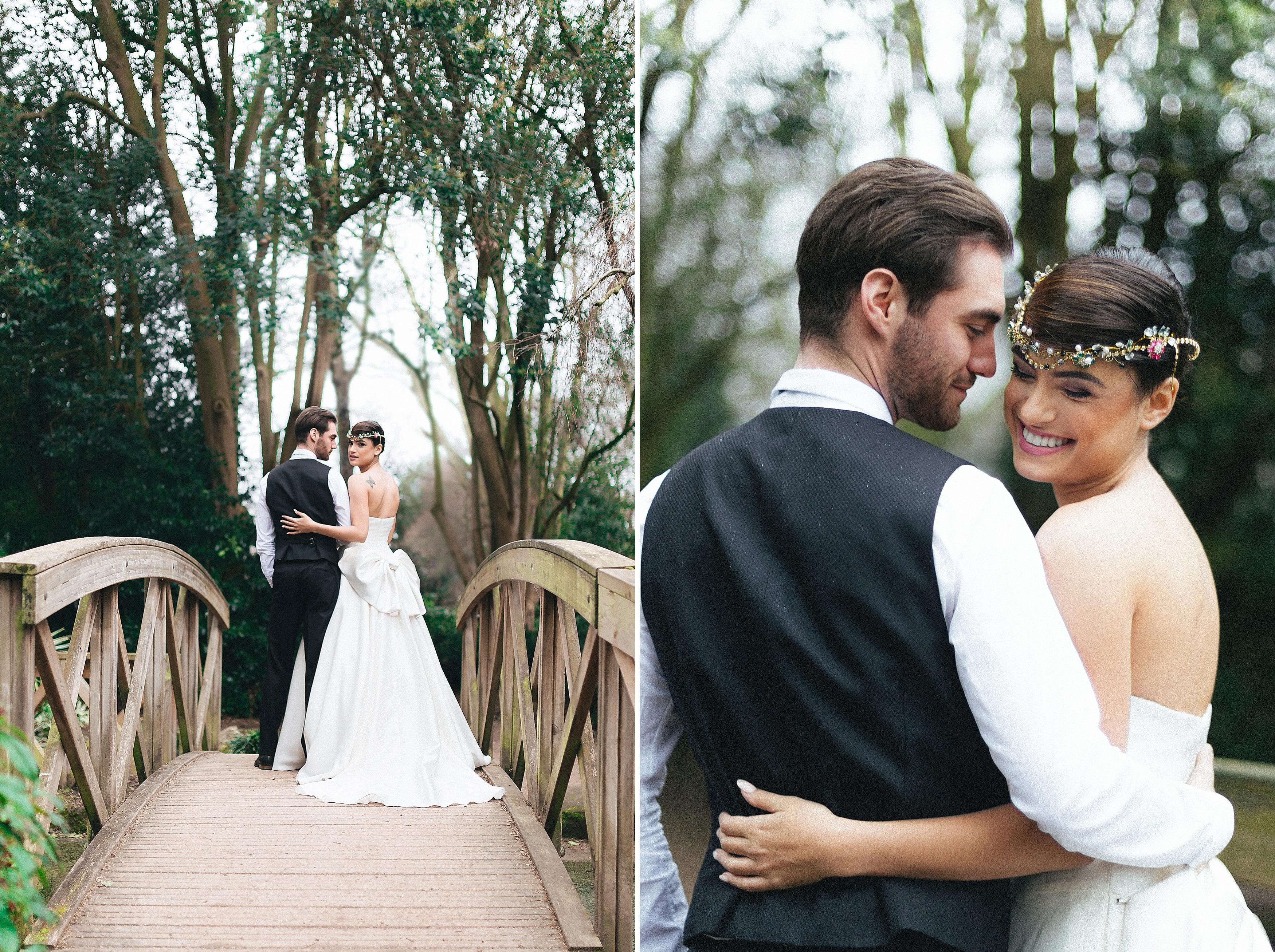 york house twickenham wedding photos couple shots at the garden