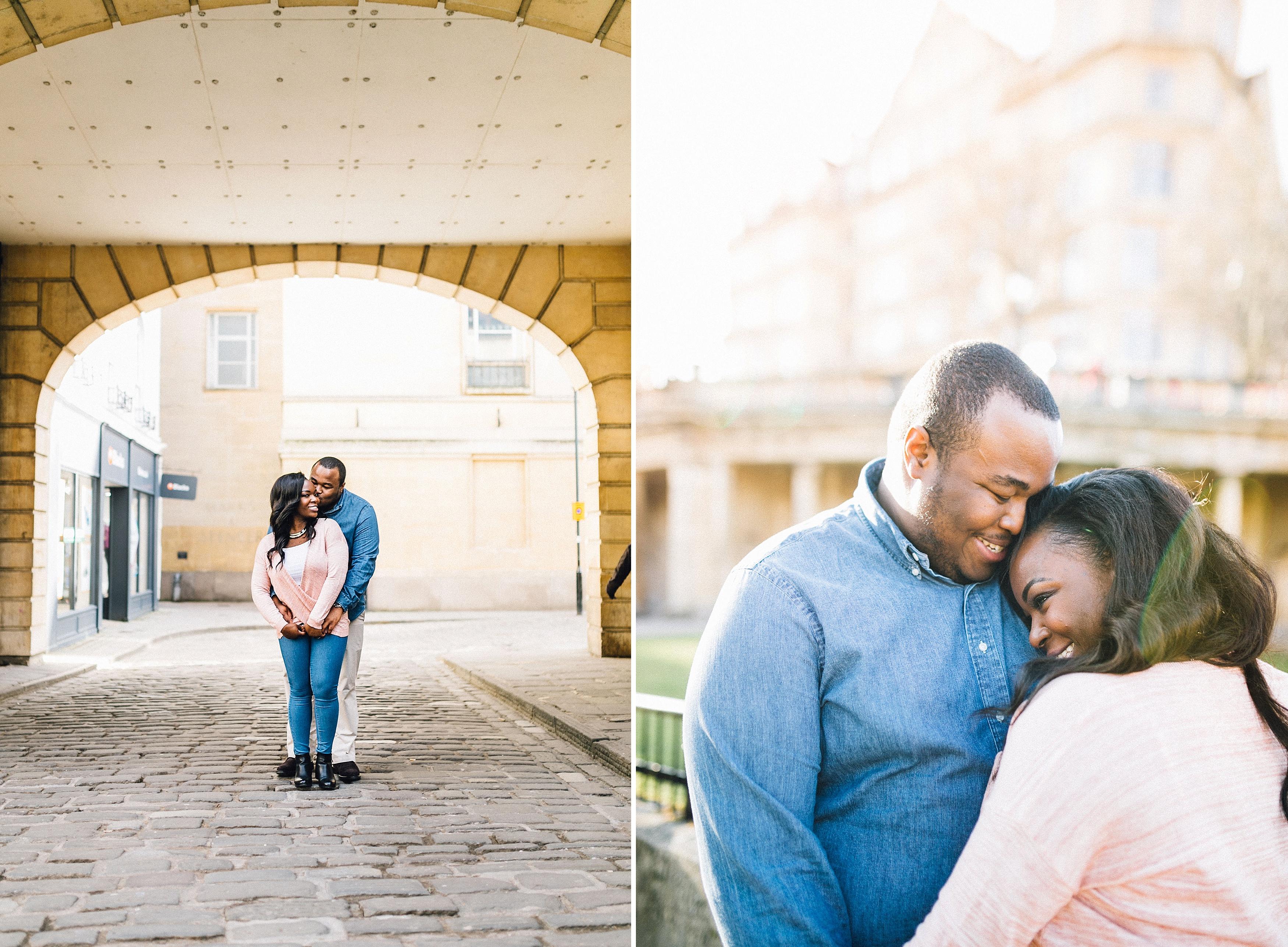 engagement shoot streets of bath pre wedding - bath wedding photographer