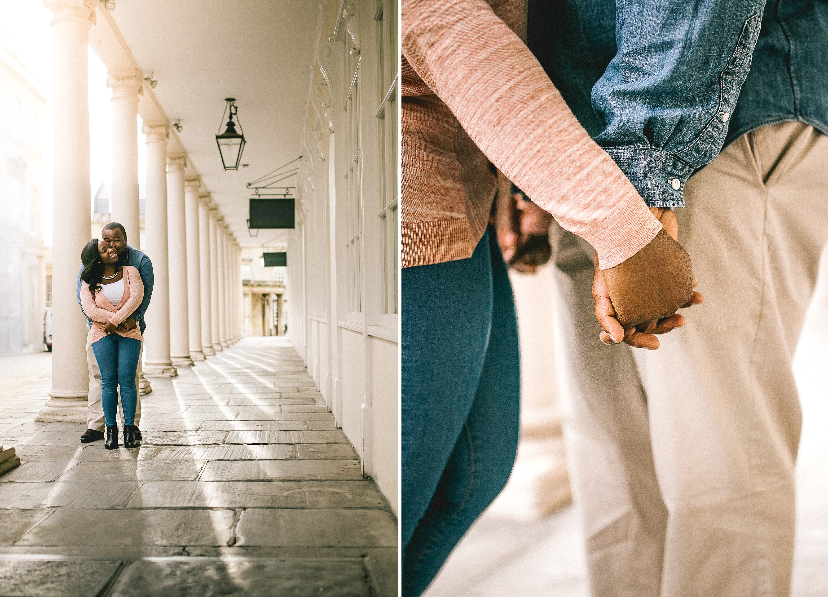 relaxed engagement shoot streets of bath pre wedding - bath wedding photographer