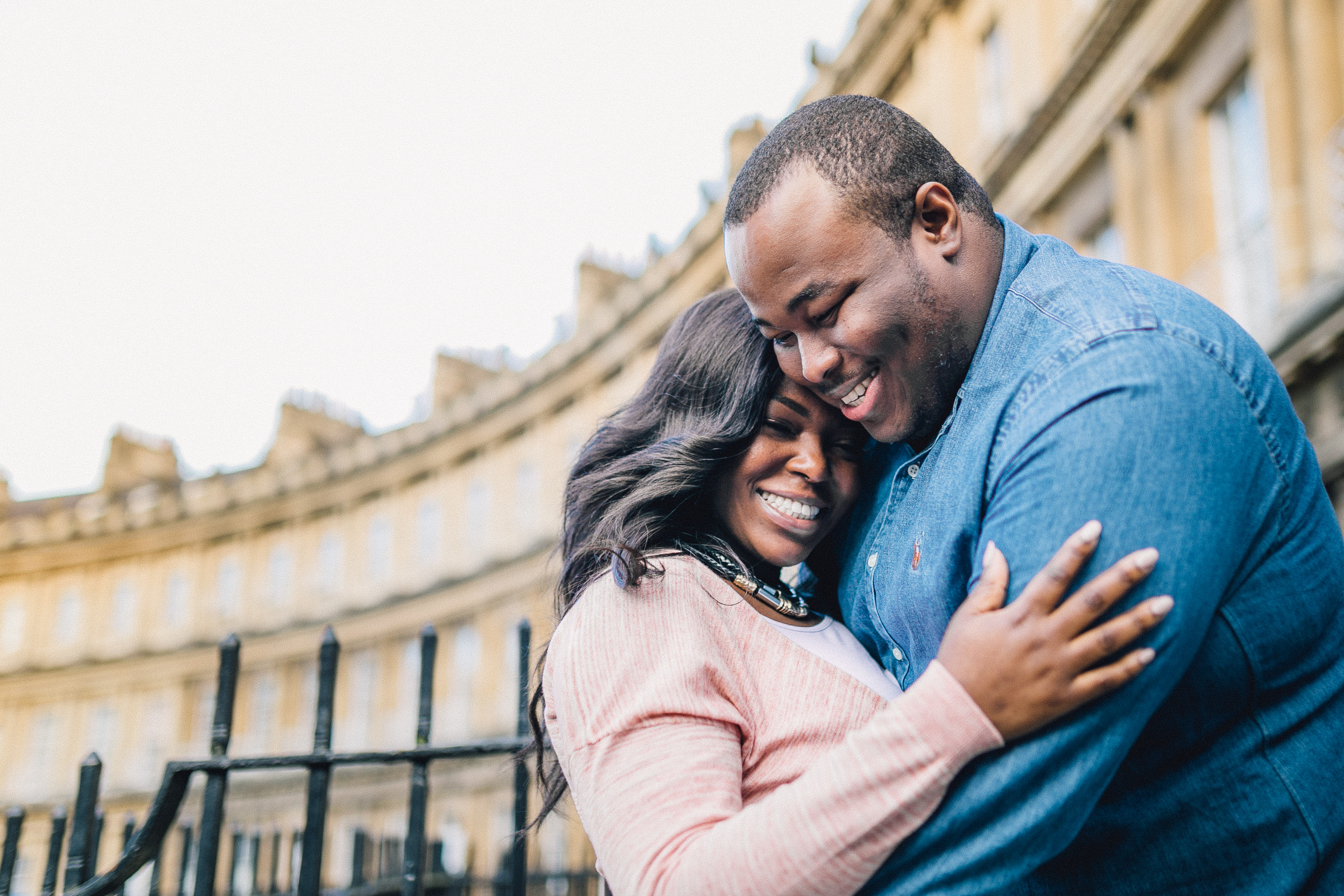 pre wedding shoot couples at the crescent in bath uk by bath wedding photographer - engagement shoot