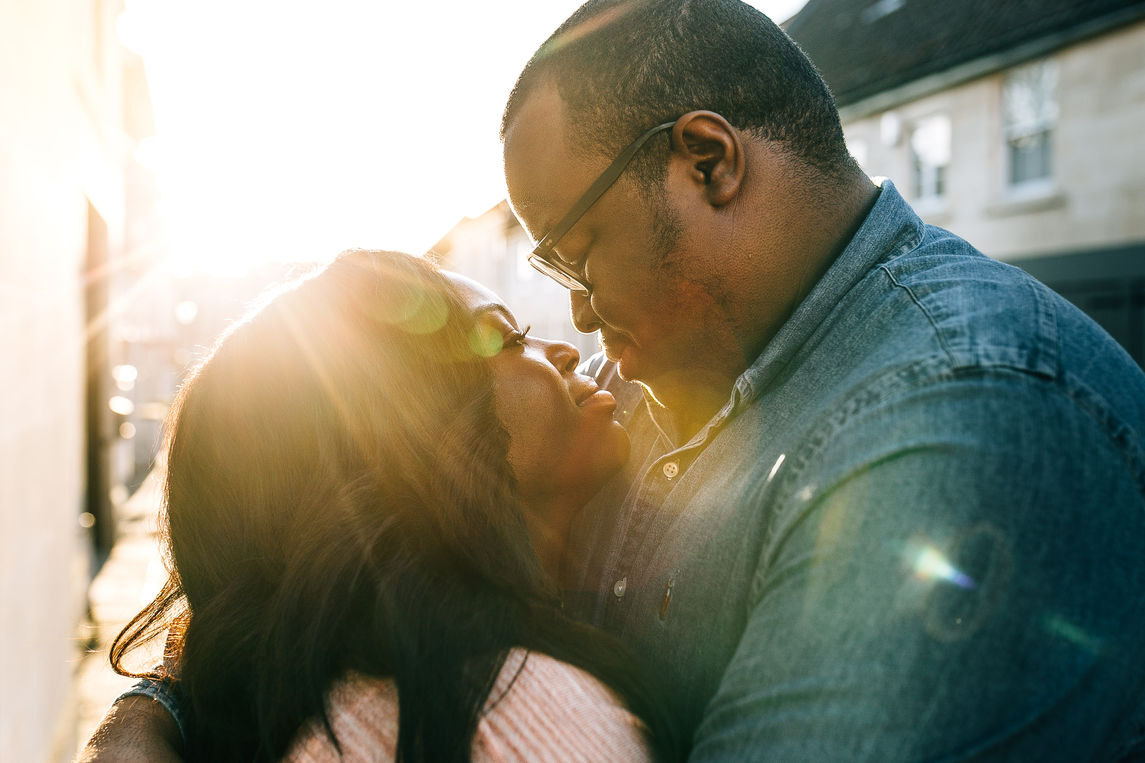 sunset engagement shoot by bath somersert wedding photographer in uk