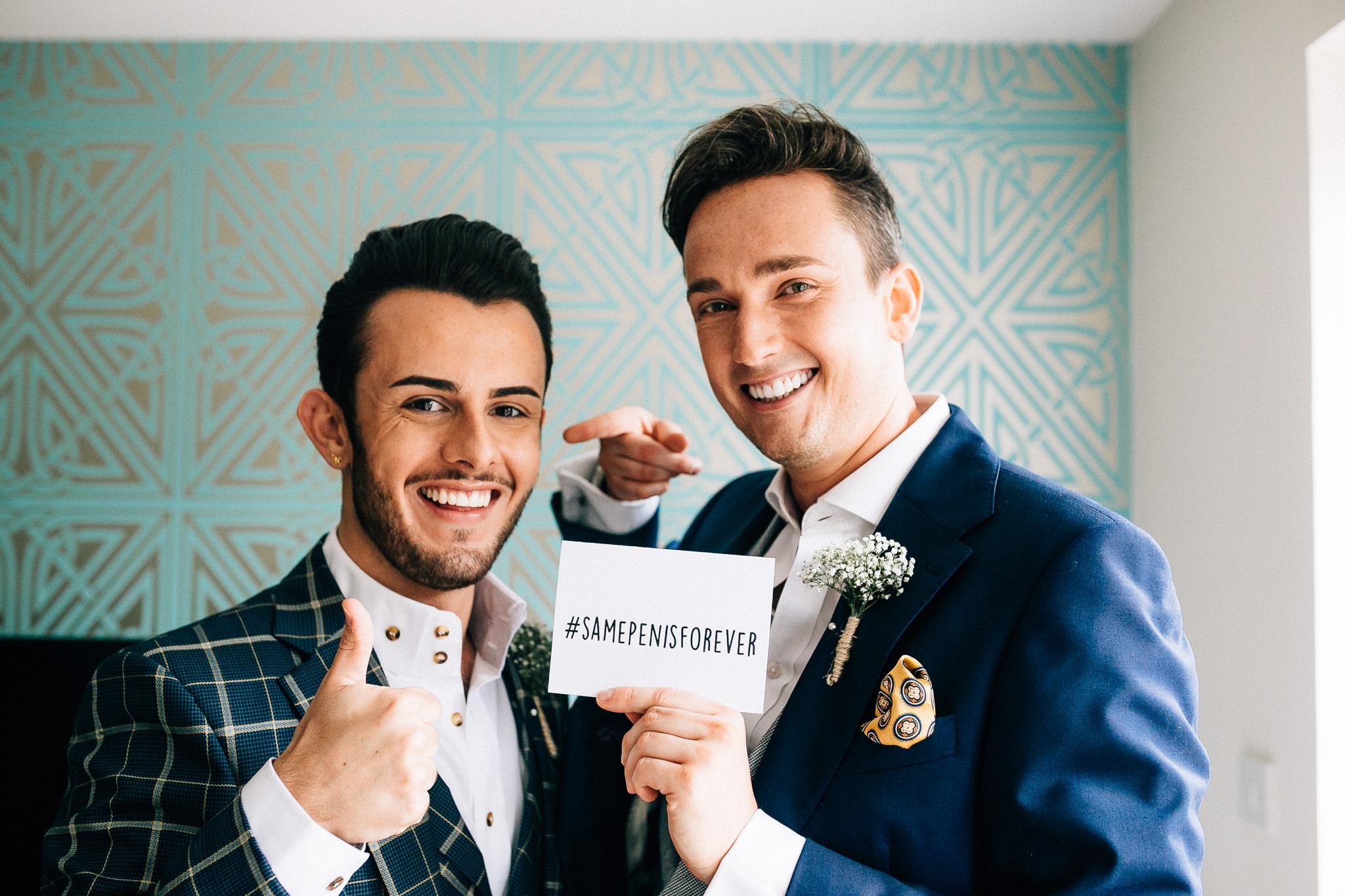 london gay wedding groom prep same penis forever
