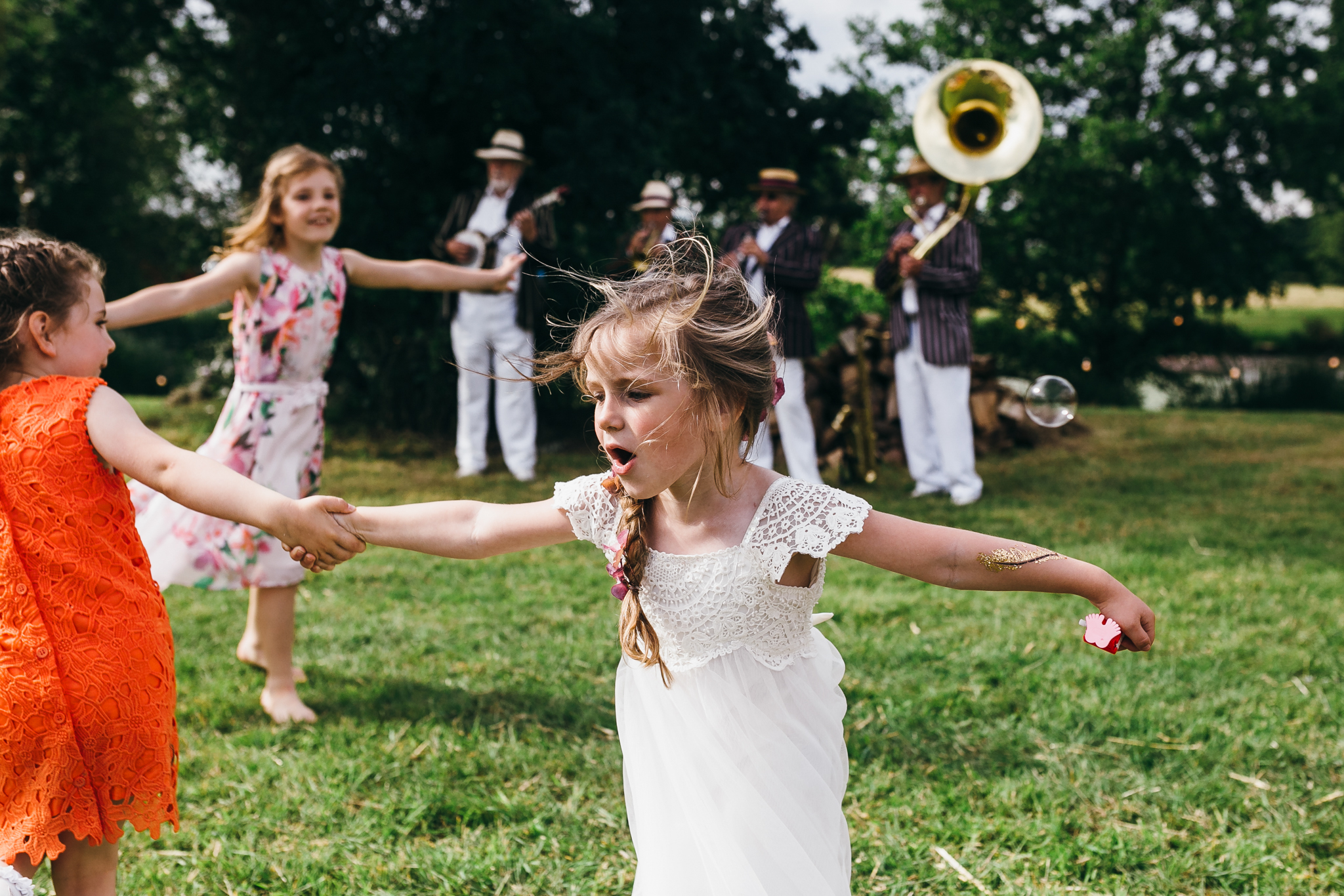 colorful rustic and vintage tipi wedding photography in surrey kids