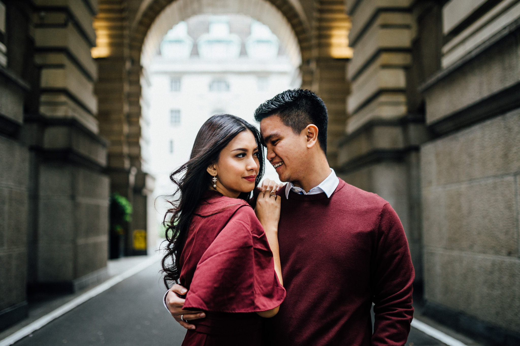 london engagement couples shoot at london eye and westminster bridge big ben asian couple