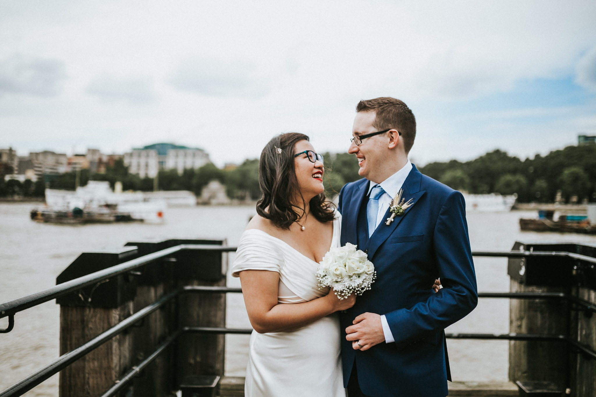 bride and groom couples potraits fun wedding photos in south bankby destination london wedding photographer