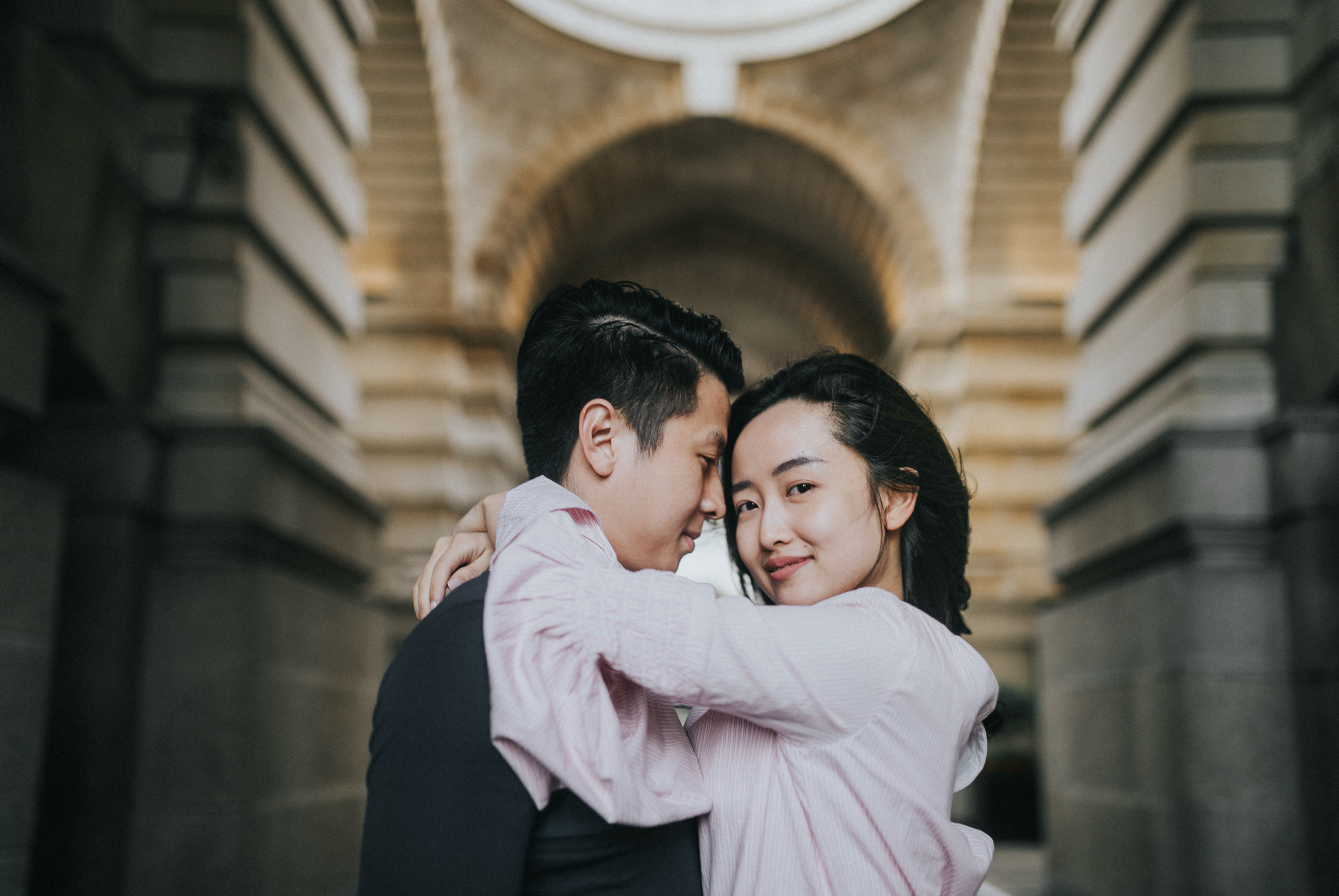 fun engagement shoot ideas in london pre wedding at wesminster soho and south bank