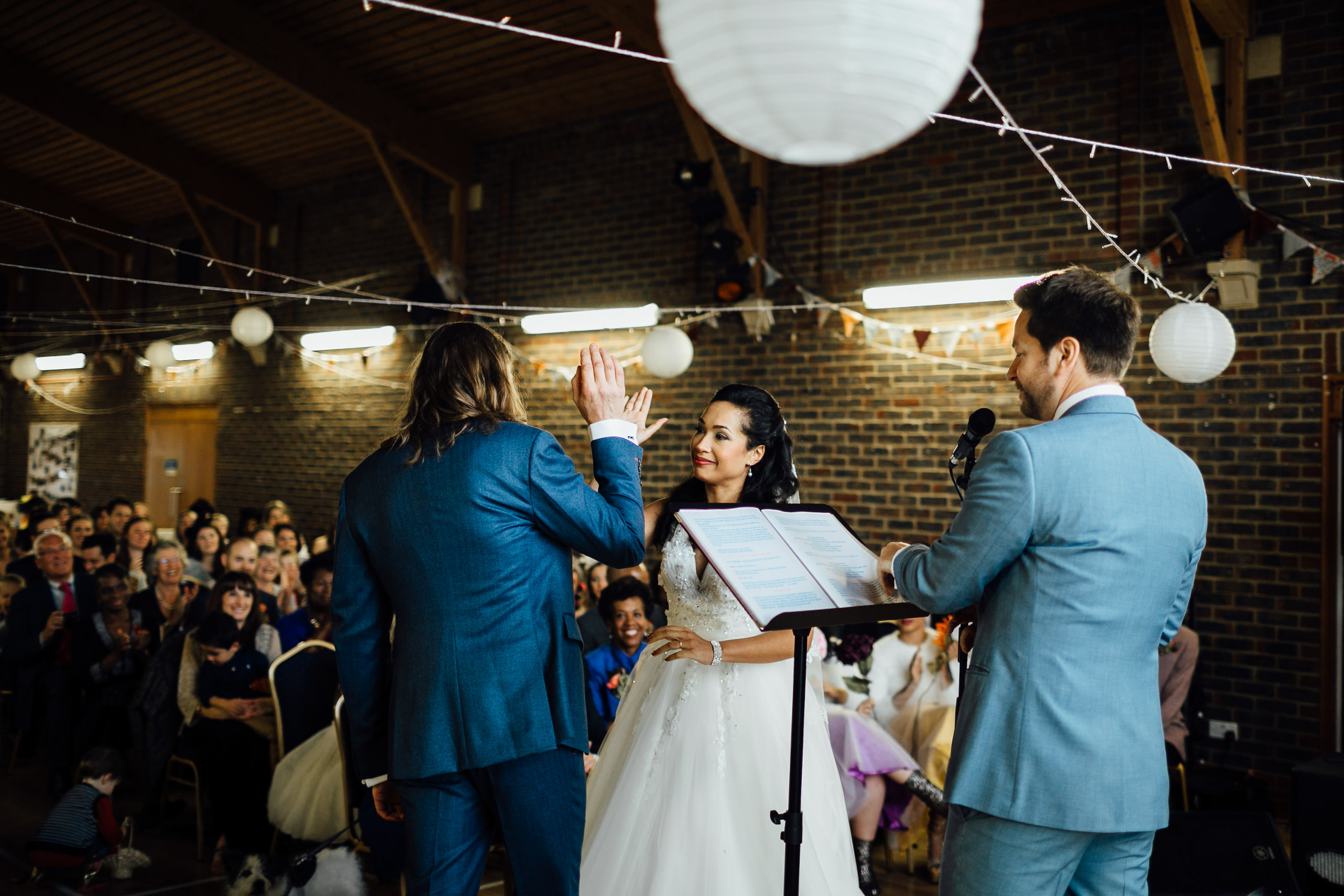 autumn fun and quirly alternative wedding ceremony