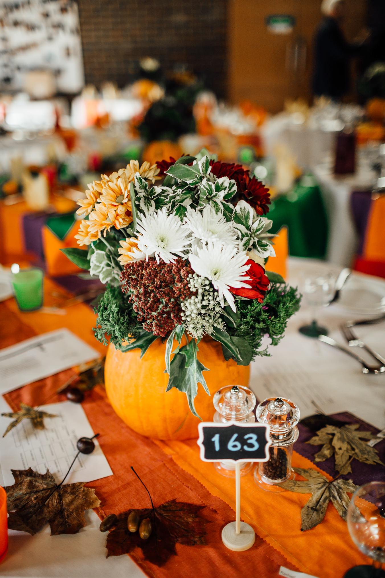 fun quirky autumn wedding decoration inspiration