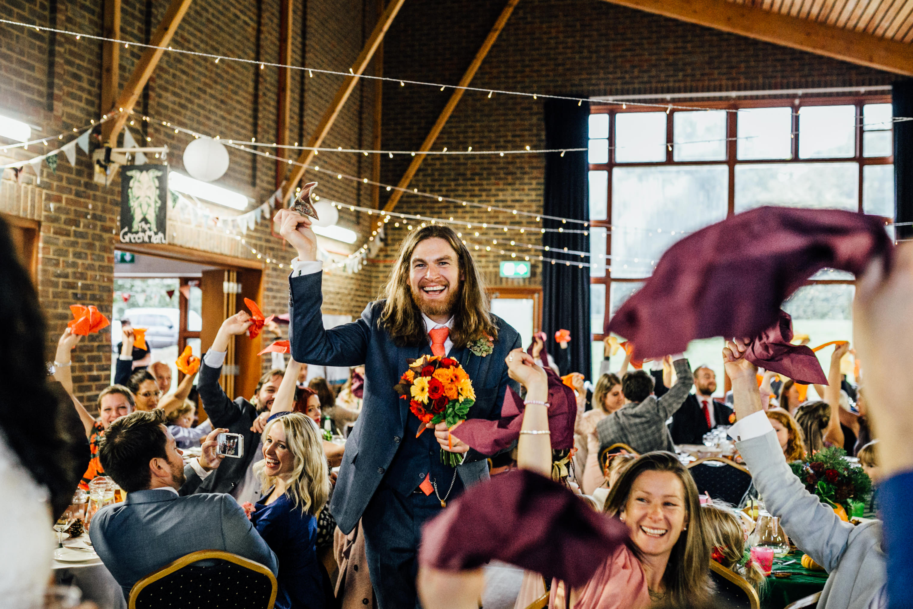 quirky fun autumn wedding in london wedding photographer