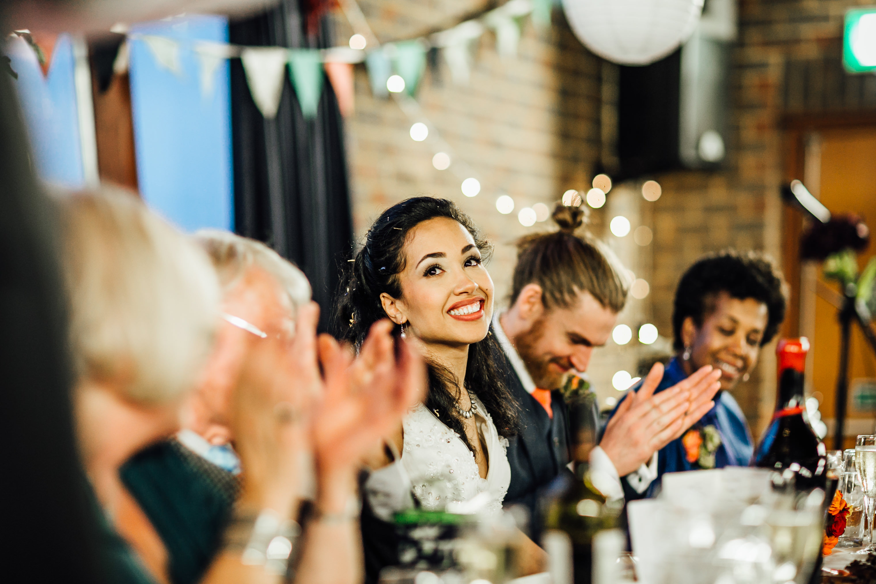 quirky fun autumn wedding in london wedding photographer documentary style