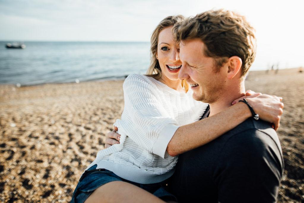 wedding photography brighton beach and pier engagement shoot