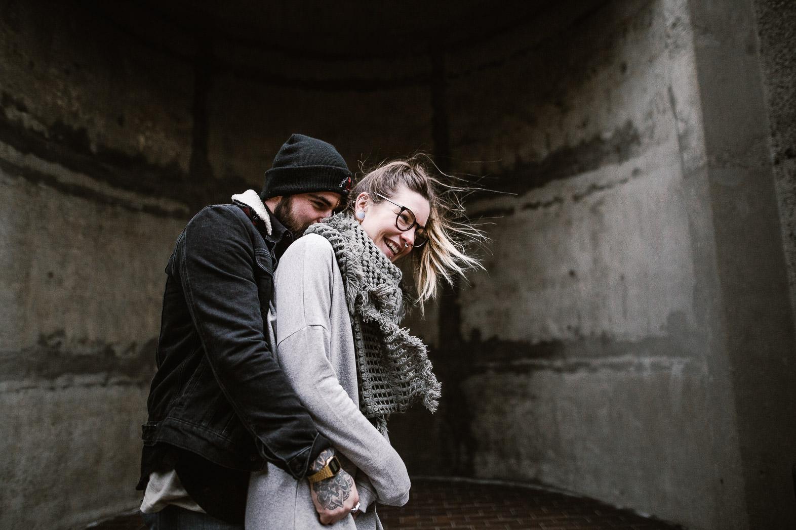 fun engagement shoot at the barbican