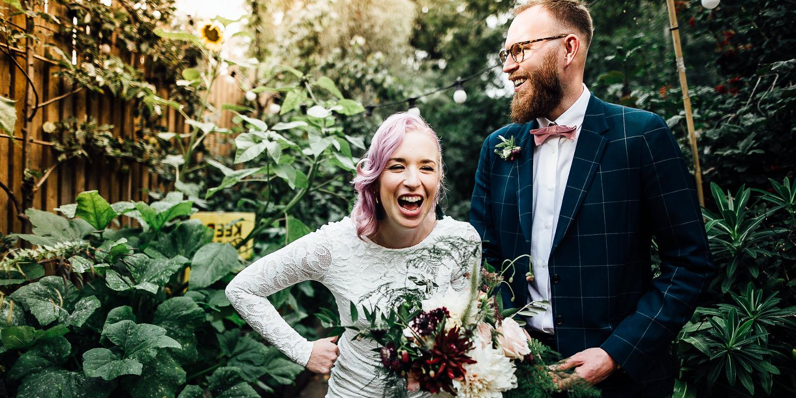 fun alternative wedding photography in london
