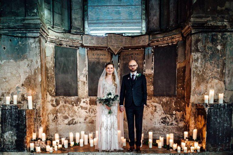 ceremony decoration at asylum wedding photos