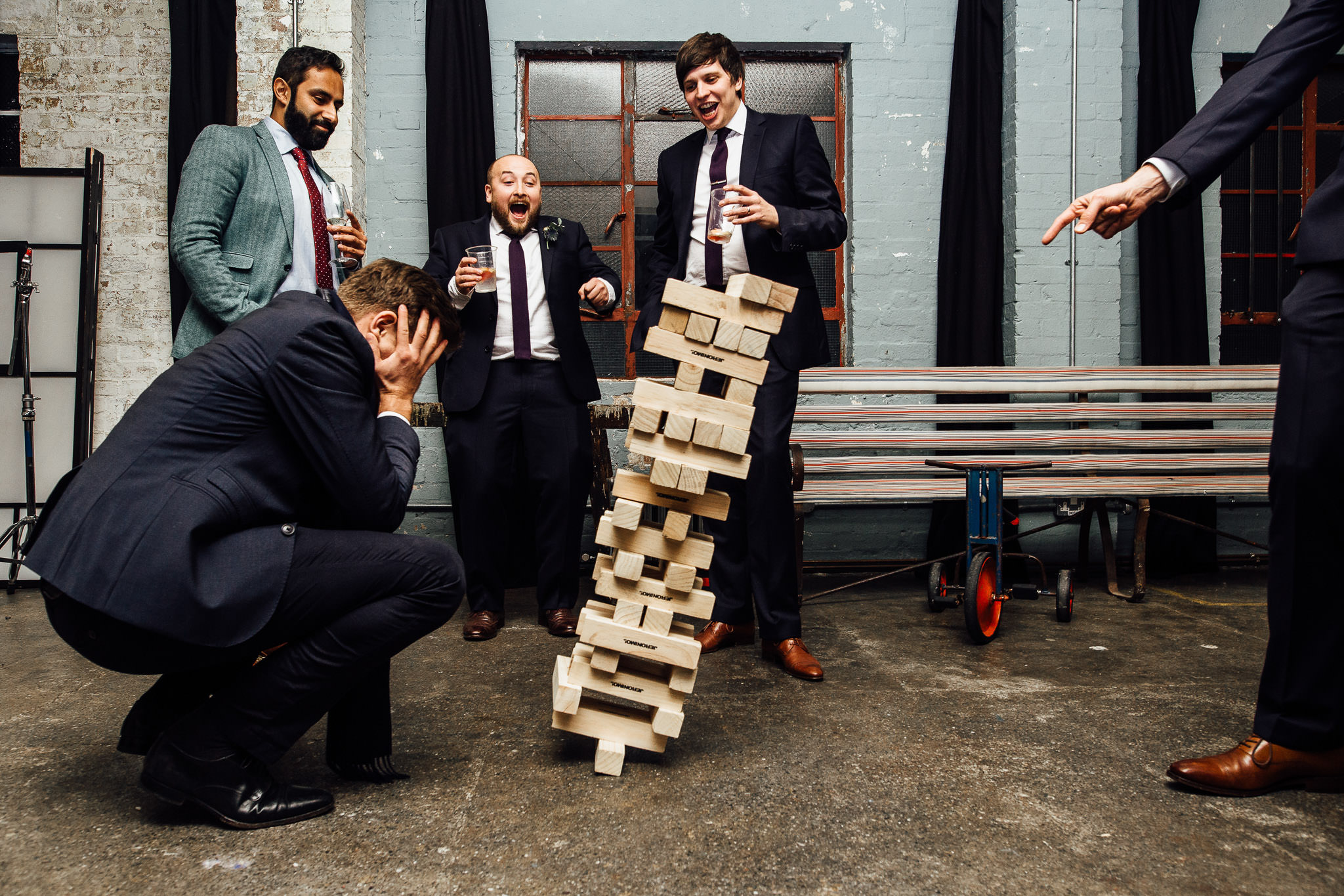 jenga at wedding at One Friendly Place photos