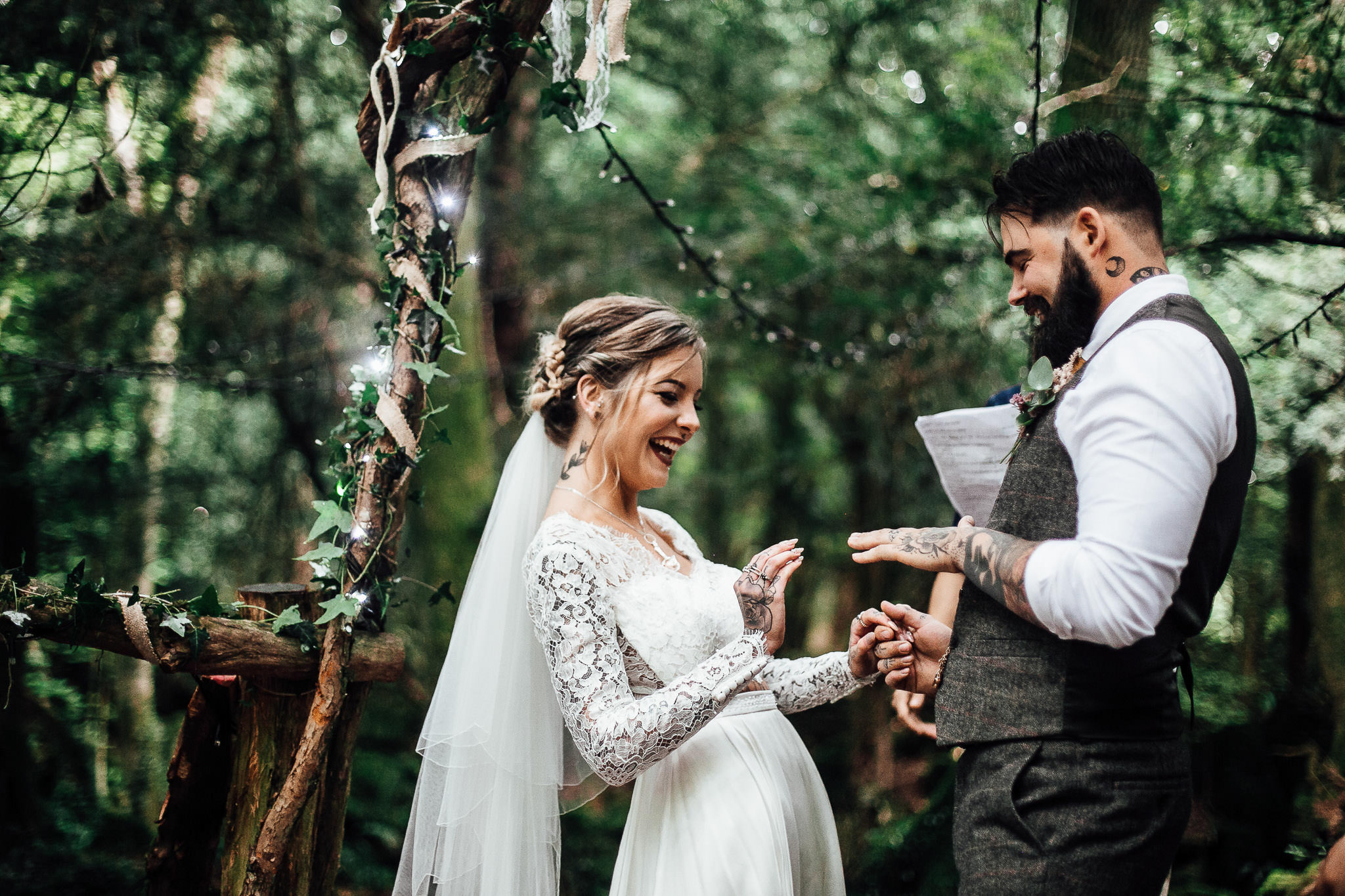 english woodland wedding photos