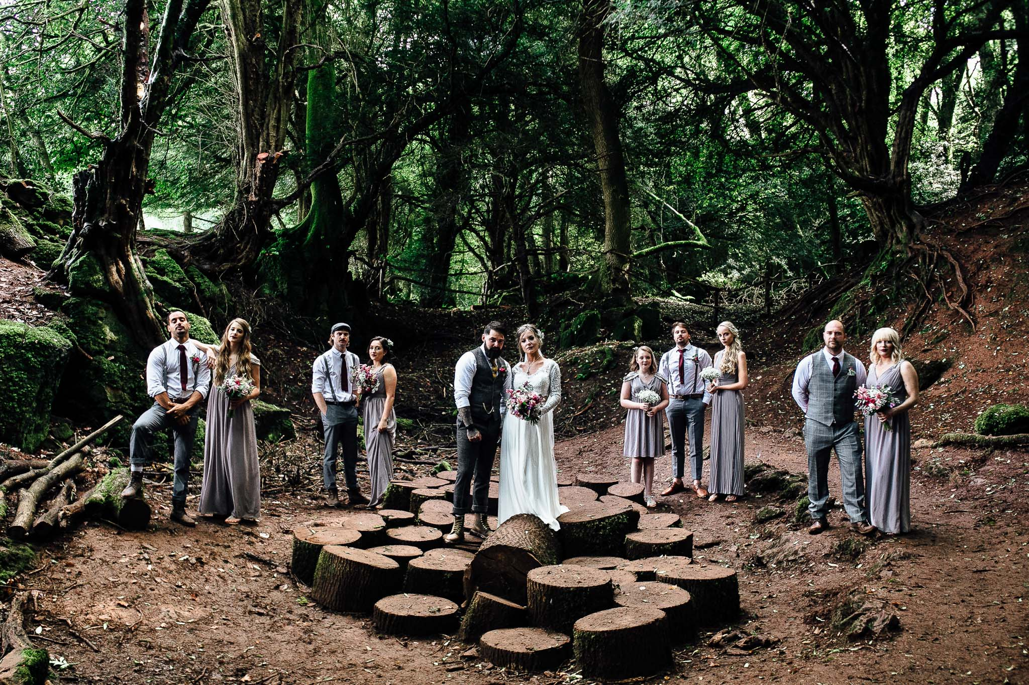star wars theme woodland wedding in the uk