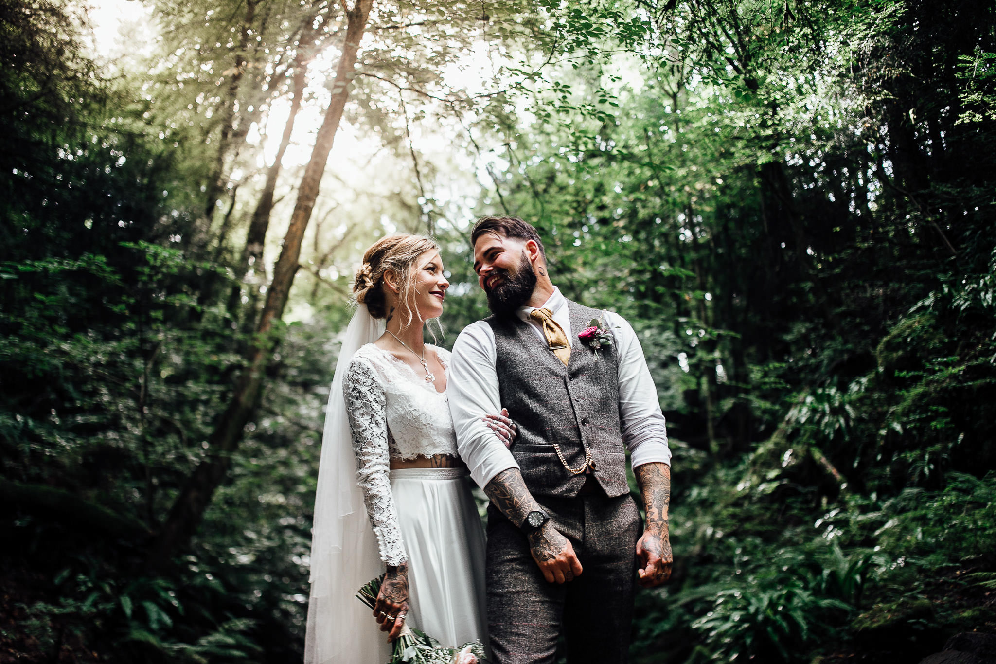 forest of dean woodland wedding photos