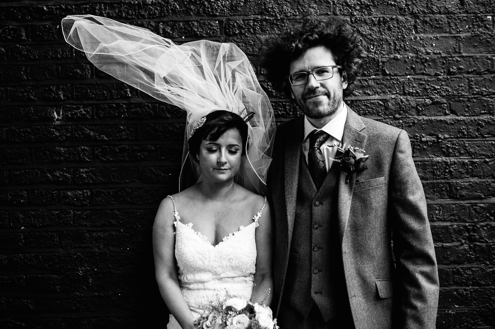 bride and groom photos at shoreditch studios