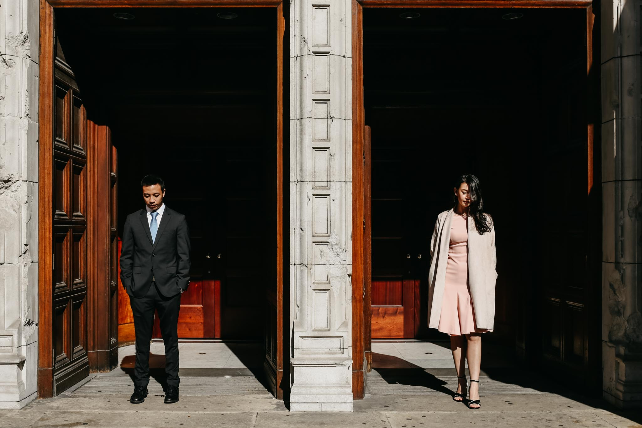 romantic south kensignton engagement shoot in london