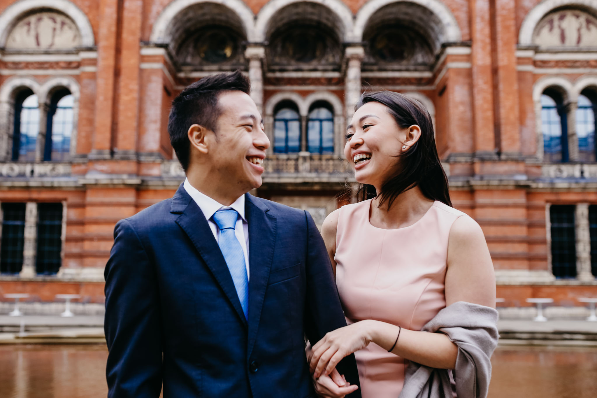 london engagement shoot at south Kensington