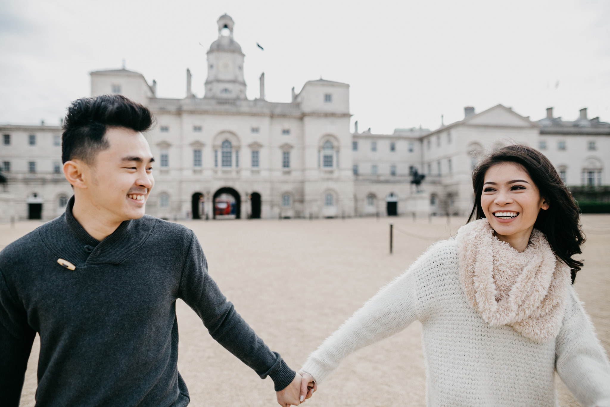 horse guards pre wedding shoot and holiday photo shoot in london