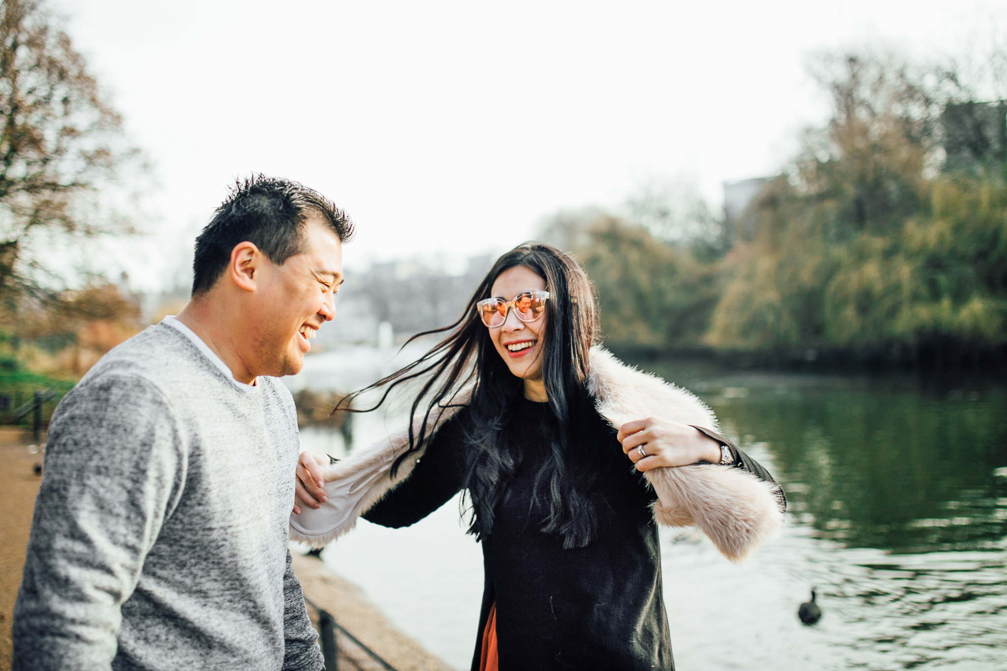 London engagement shoot location - st james park and horse guards