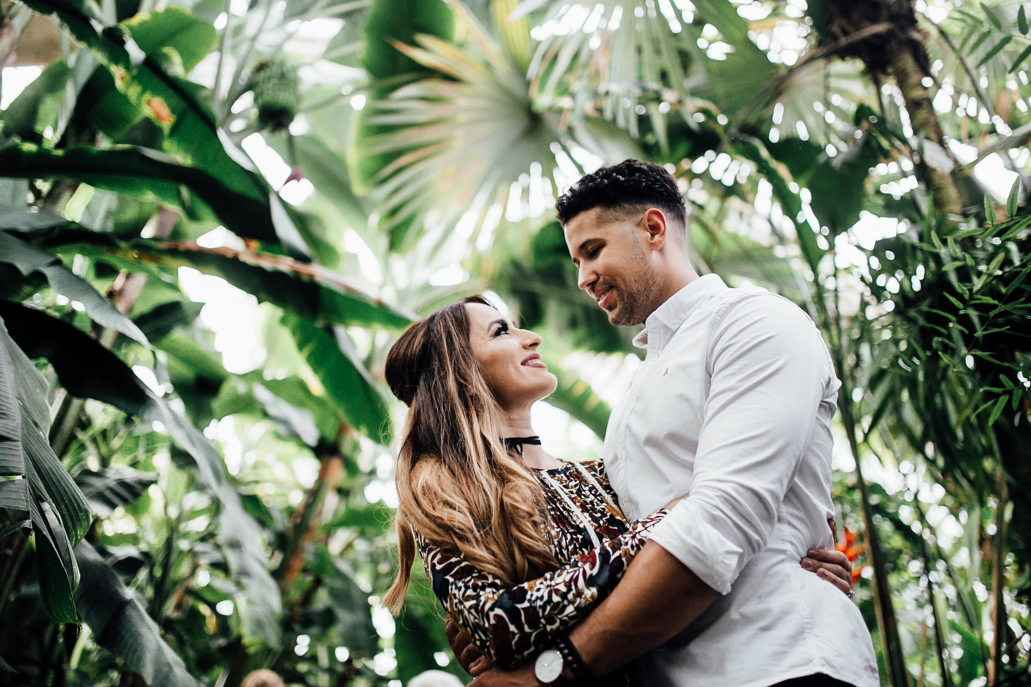 best locations for engagement shoot in London botanical kew gardens