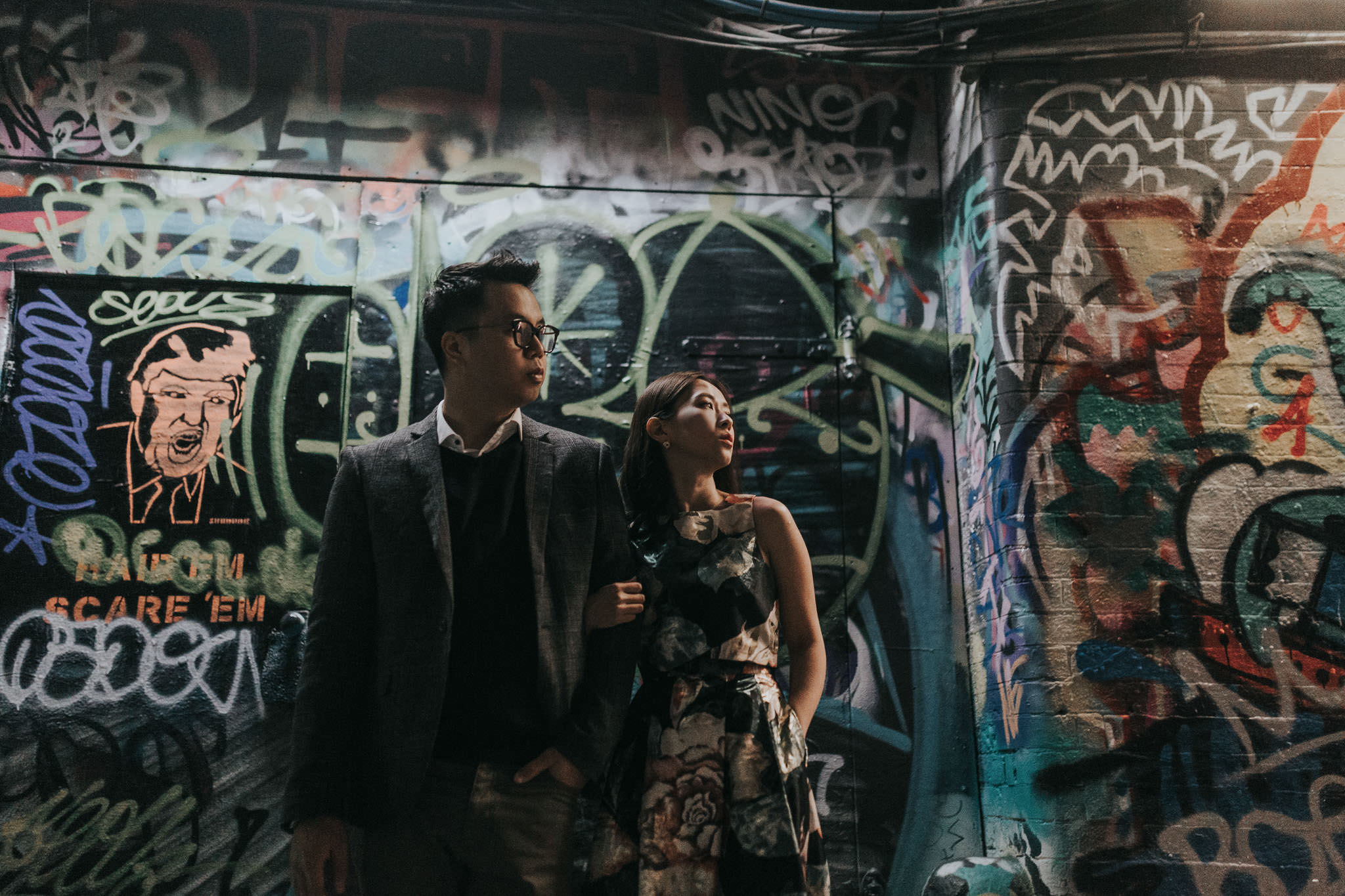 best locations for engagement shoot in london waterloo tunnels vaults