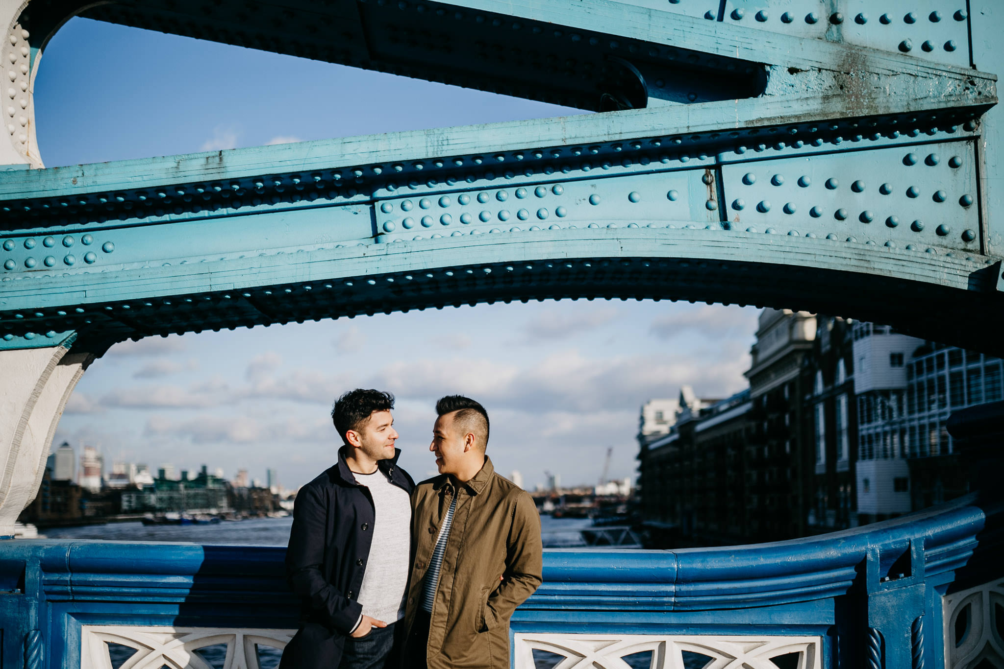 best Engagement shoot locations in London tower bridge
