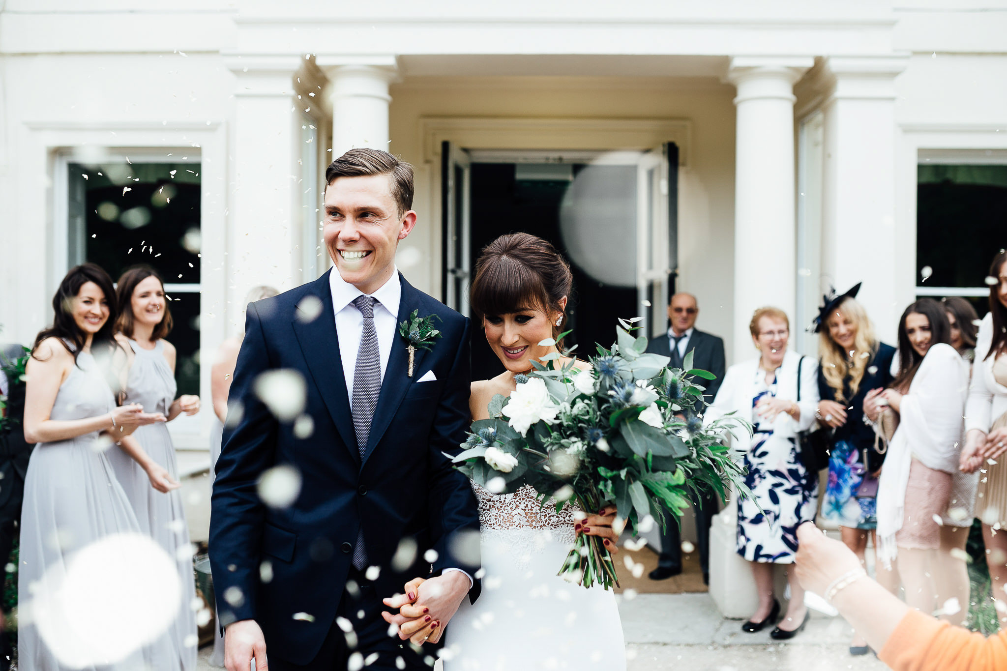 confetti at morden hall london wedding