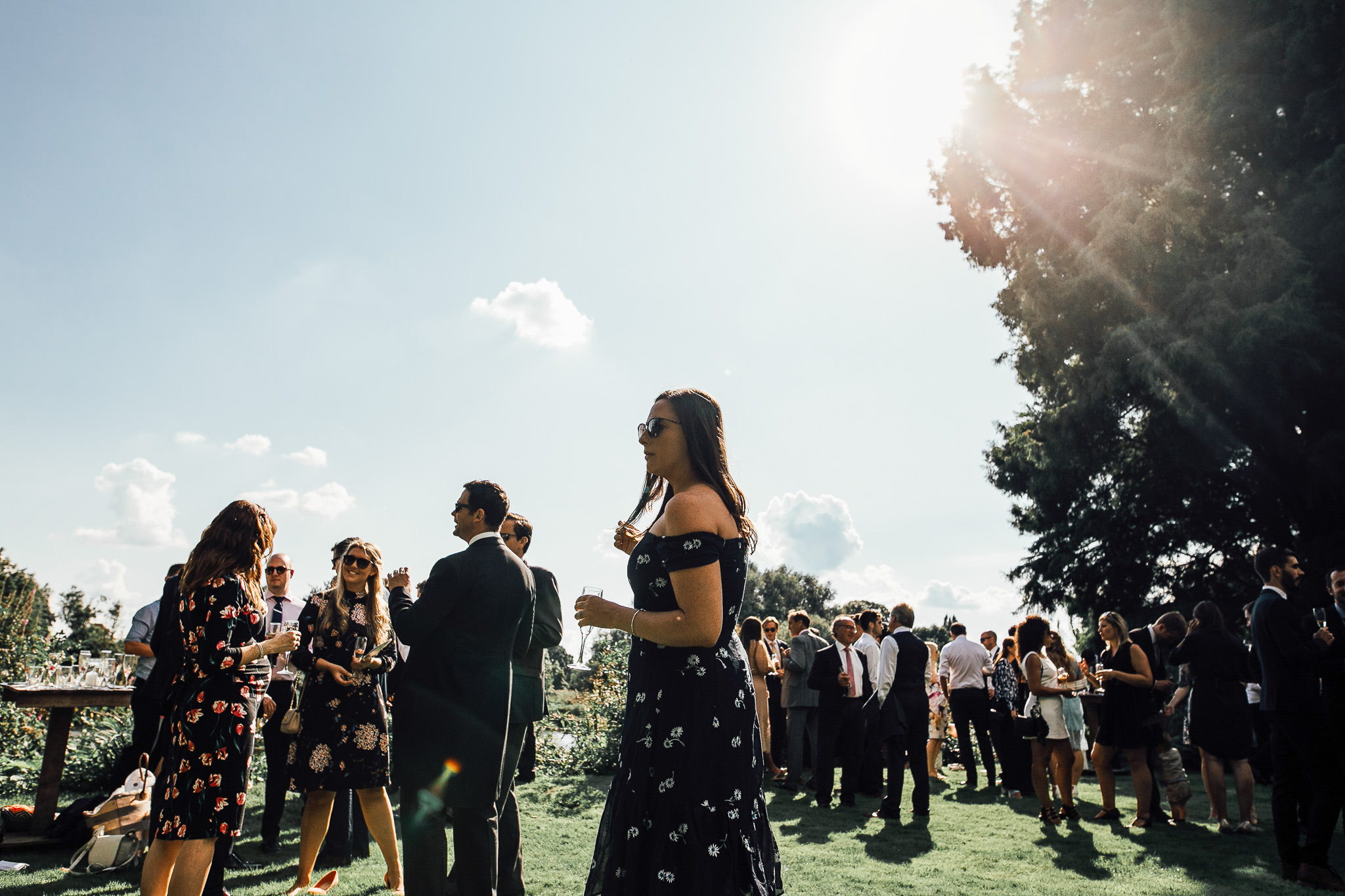 summer garden wedding in twickenham