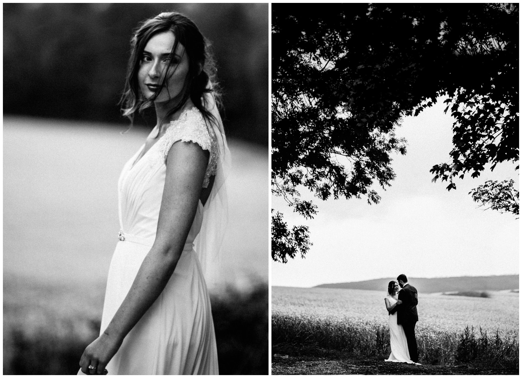 bride and groom photos at wheat fields