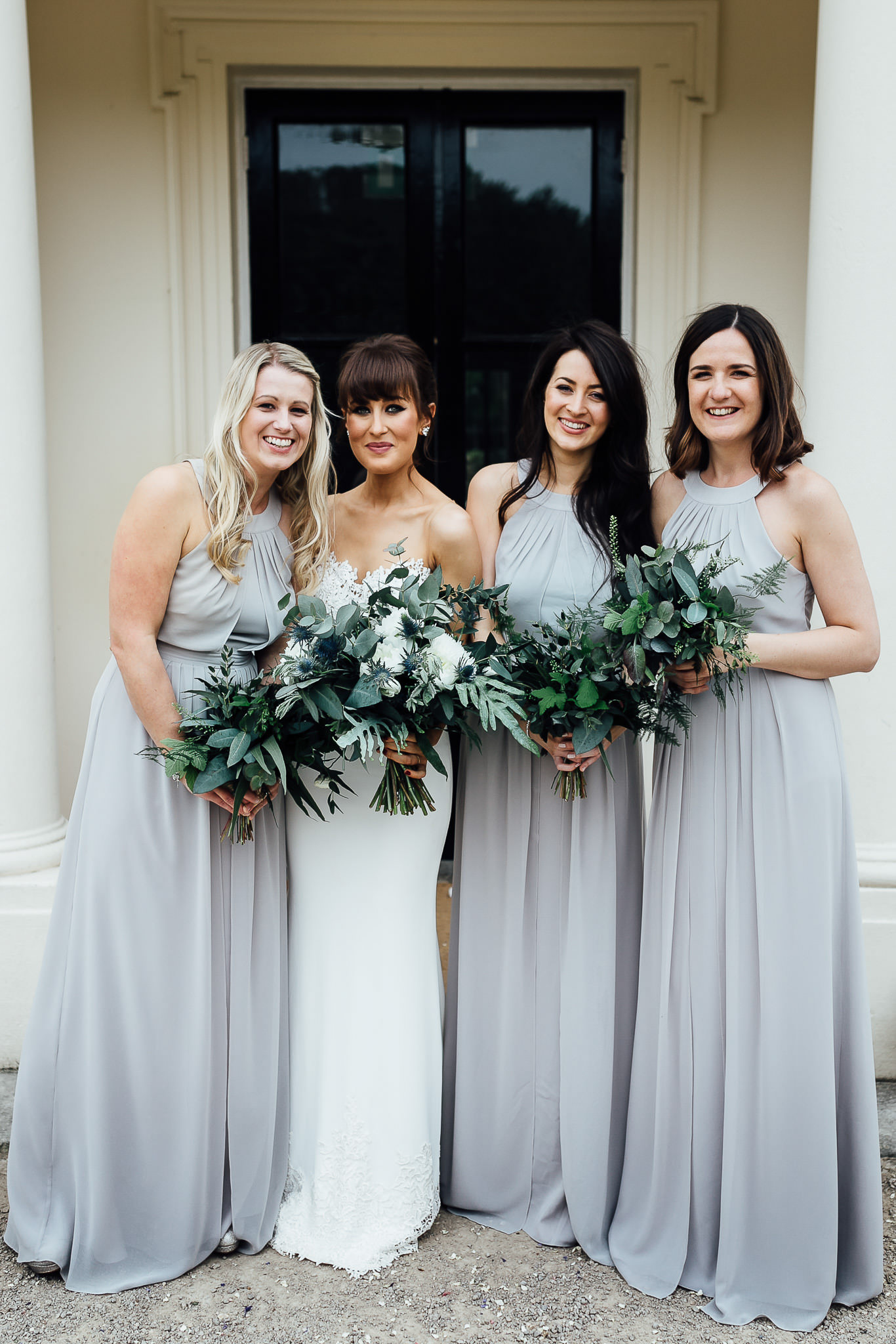 ceremony at morden hall wedding botanical theme with geometrical copper details