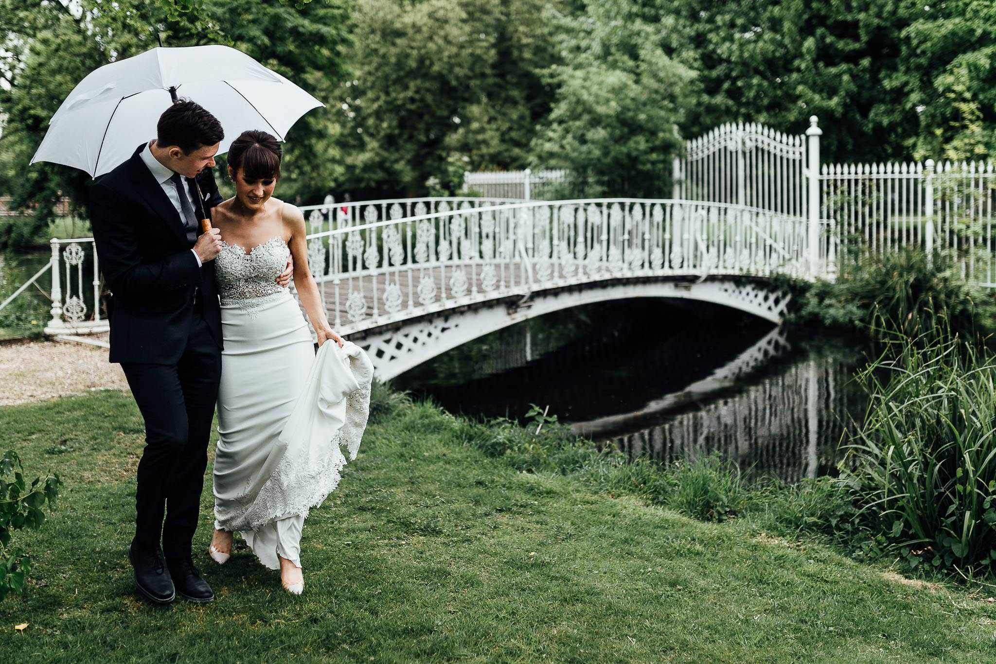 couples portraits from wedding at morden hall london
