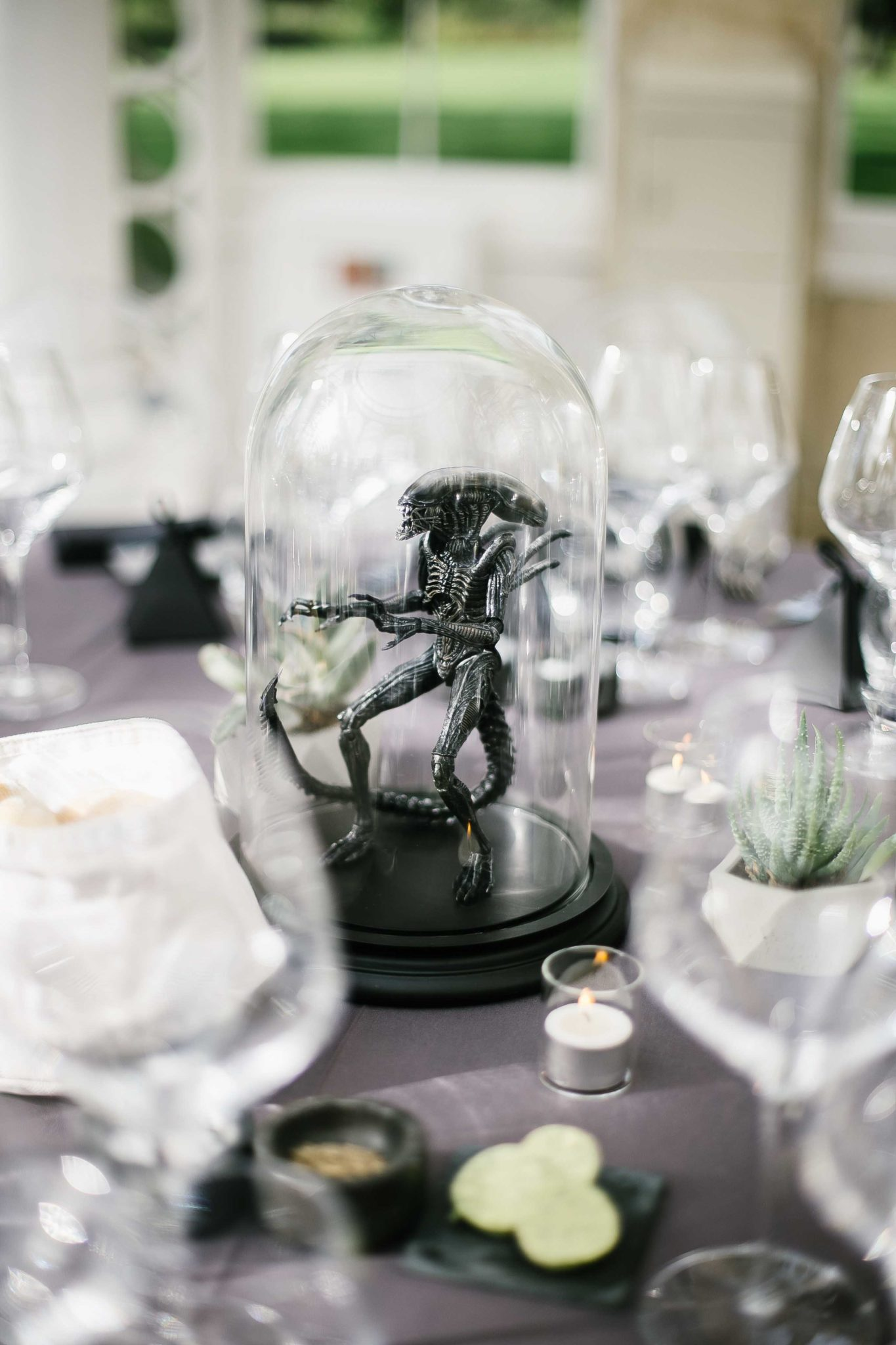 sci fi wedding theme at syon park conservatory