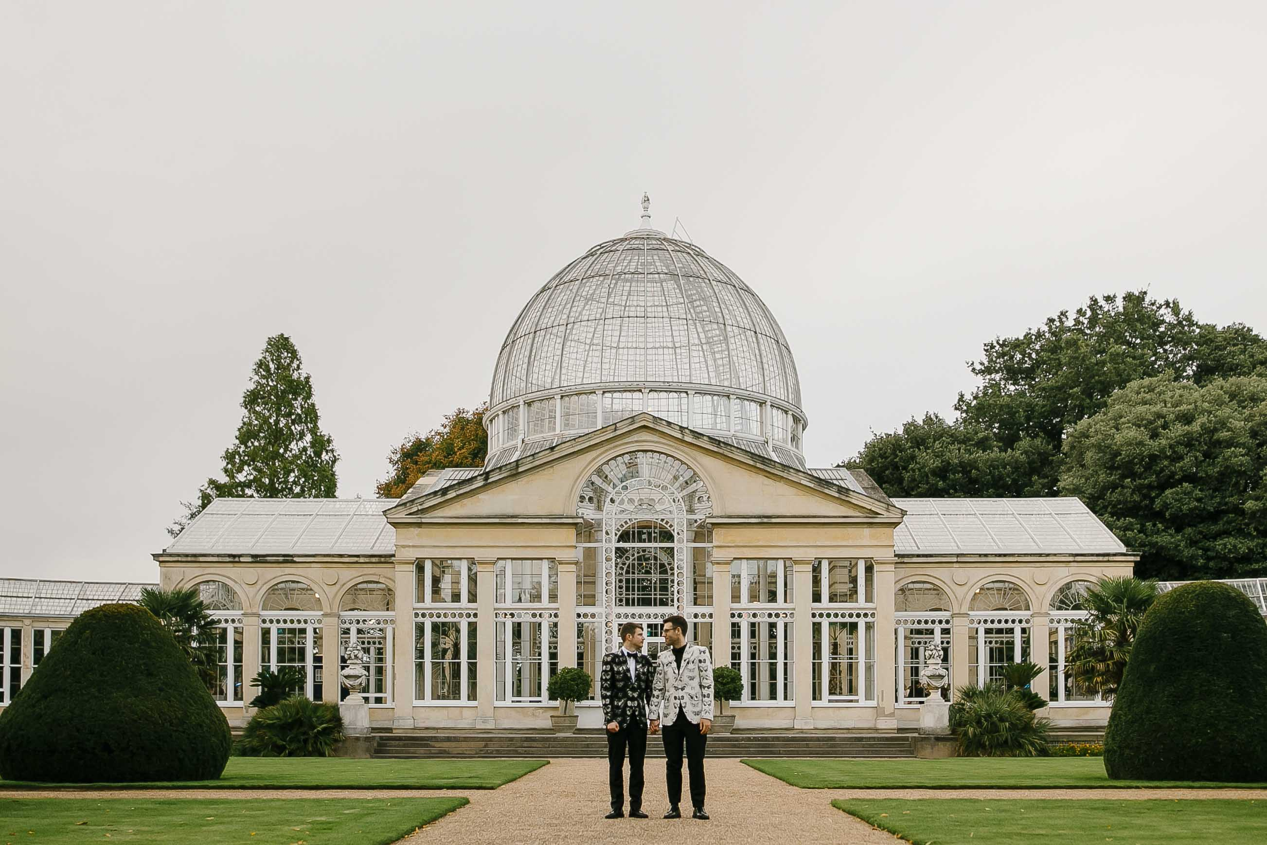 same sex wedding photography at syon park