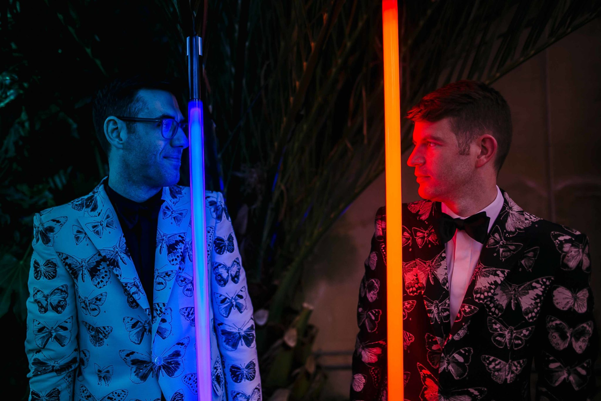 star wars light sabers theme wedding