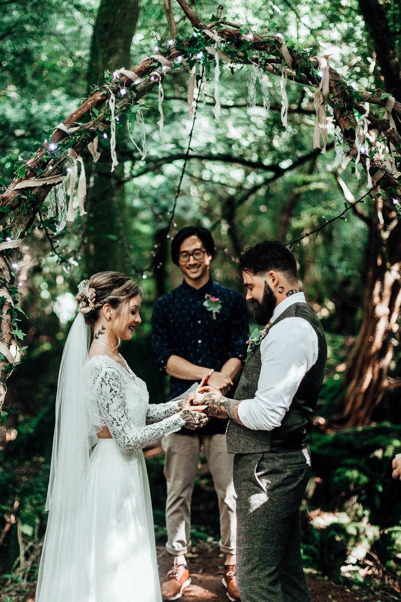 puzzlewood Boho woodland Wedding near London 6