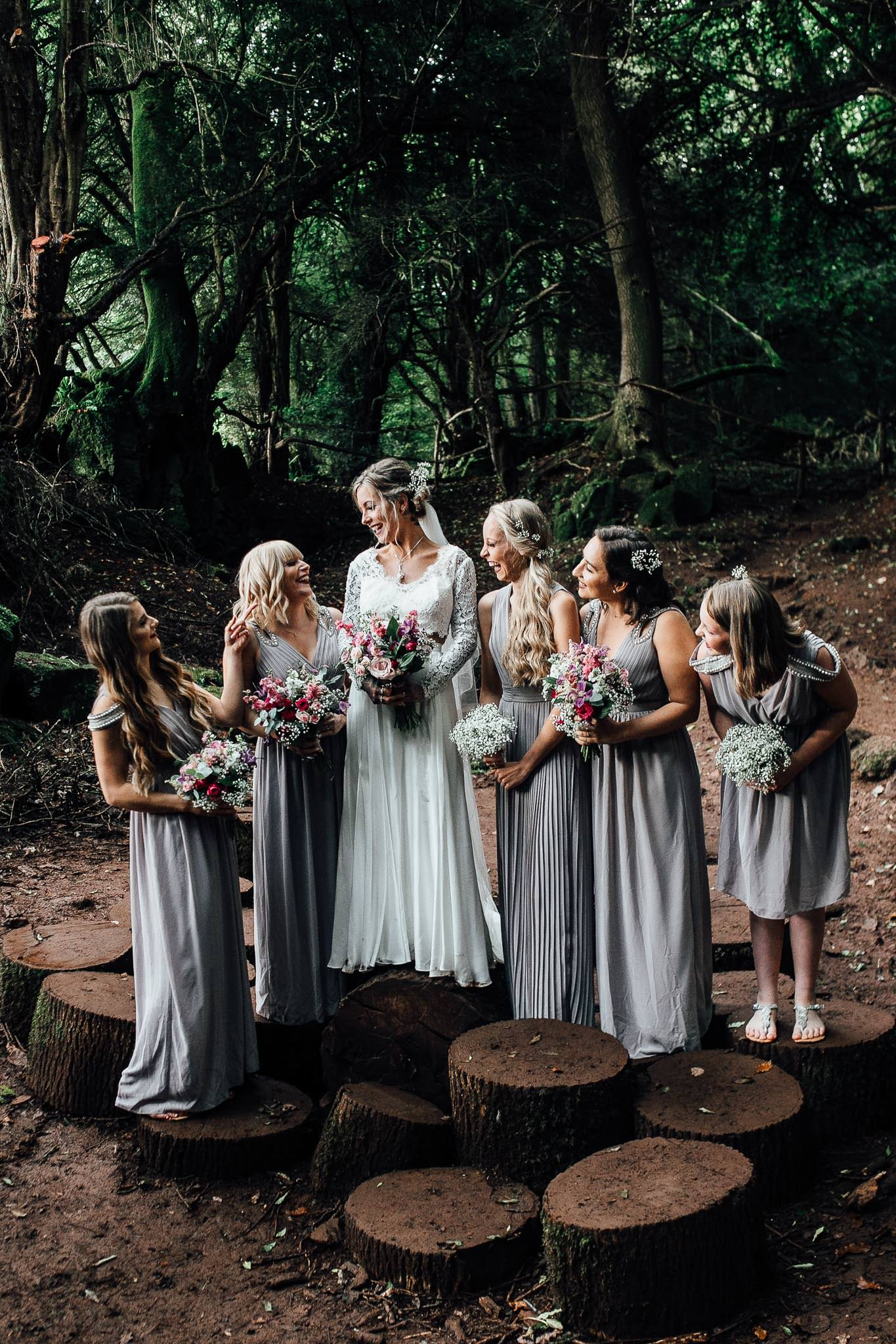 woodland wedding inspiration bridal party
