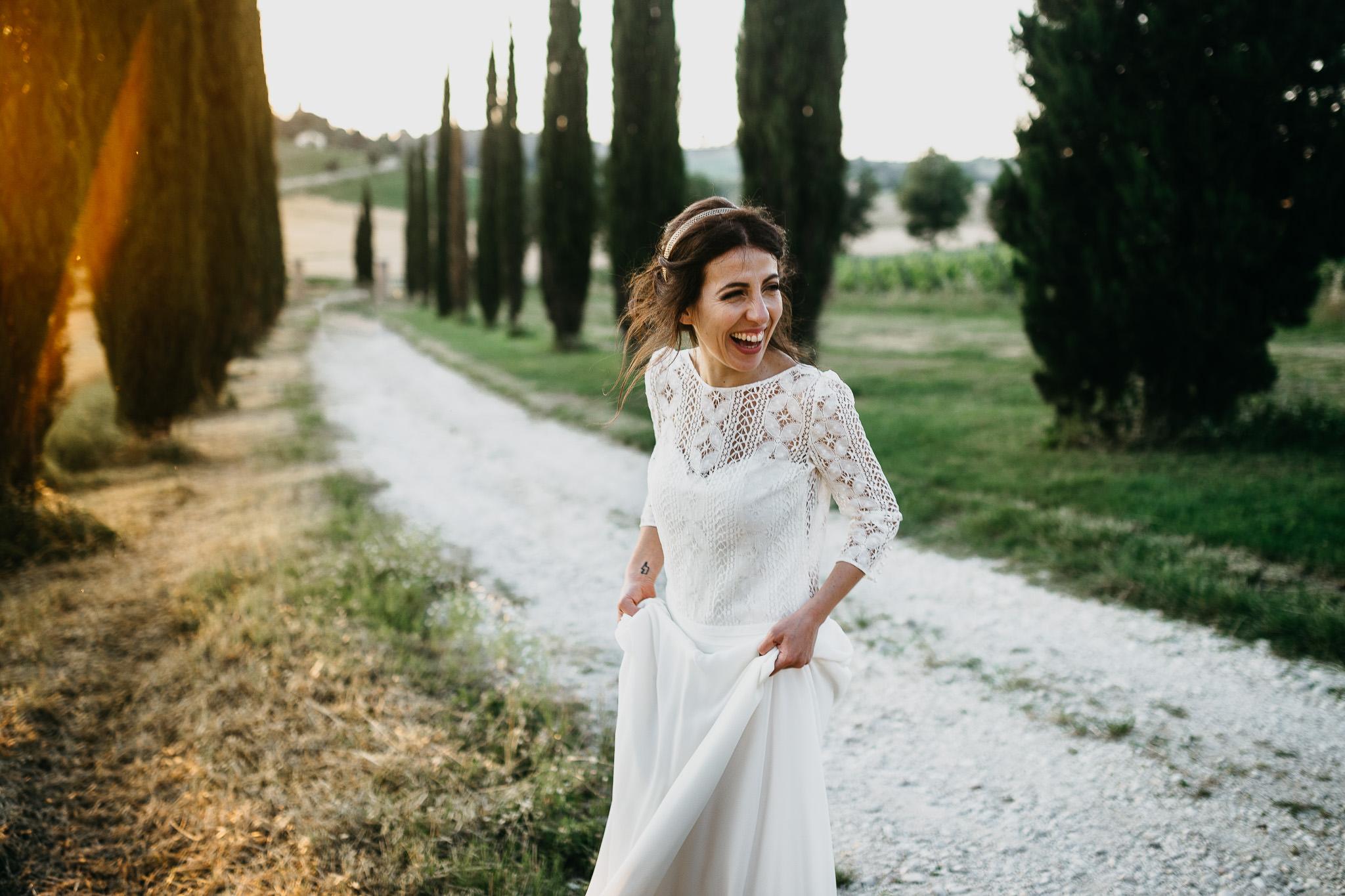 sunset destination wedding in tuscany italy