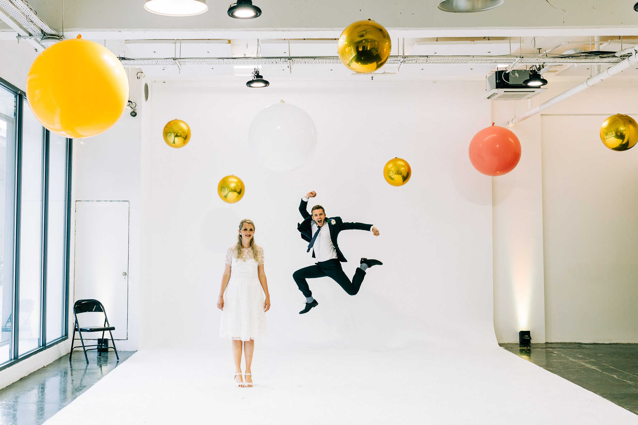 fun colorful wedding at studio spaces shadwell