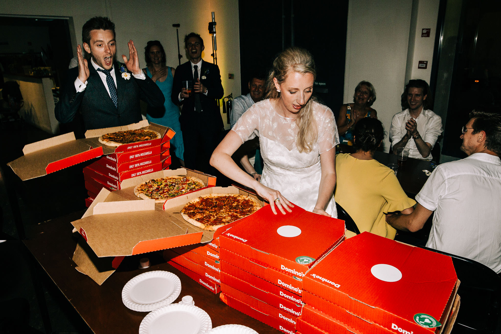 uk dominos pizza at weddings