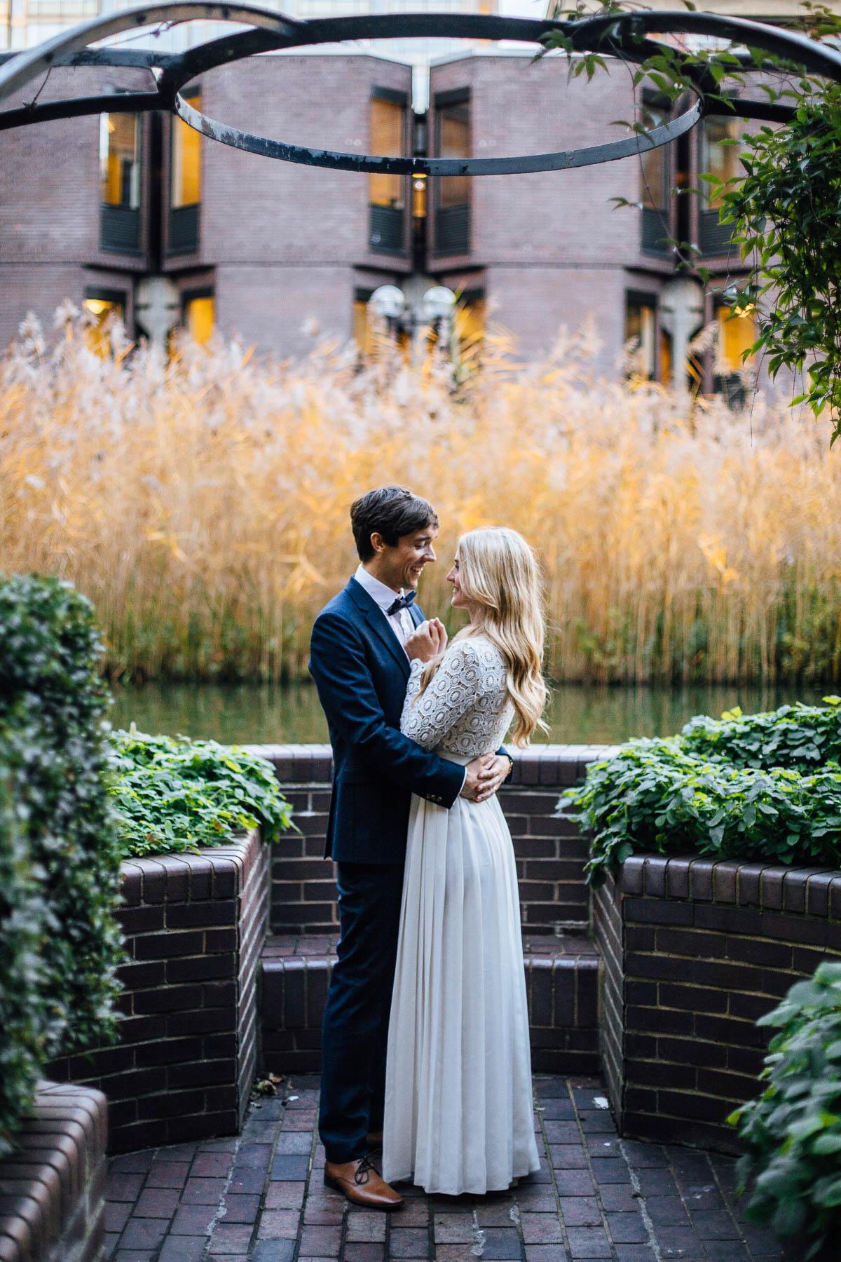 wedding photos at the barbican