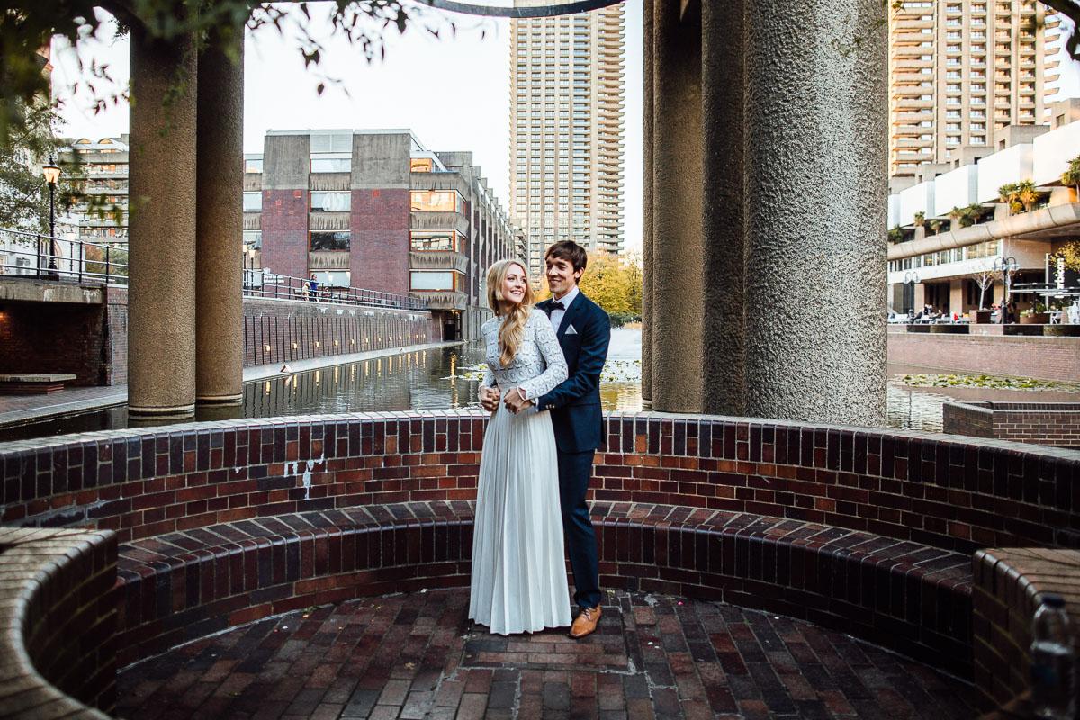 wedding photos at the barbican private garden